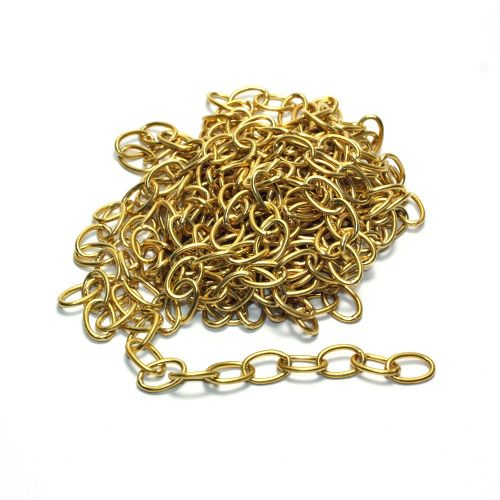 OFF-CUT Length of 12mm Solid Brass Welded Oval Link Chain 2.90 metres long